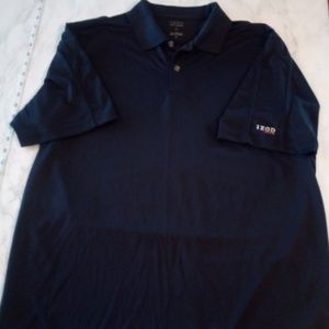 IZOD Pro Series Mens Golf Polo Button Neck Shirt L